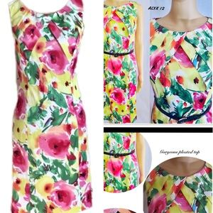 Women's FLORAL Spring career occasion dress SZ 12